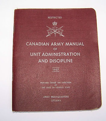Selected bibliography military law canada with emphasis on canadian army canadian army manual of unit administration and discipline 1957 ottawa queens printer 1957 58 p fandeluxe Gallery